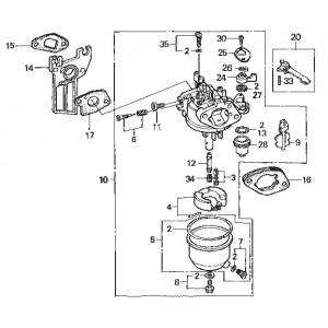 pi ces d tach es moteur honda gx 120 ffsa ns comp tition. Black Bedroom Furniture Sets. Home Design Ideas